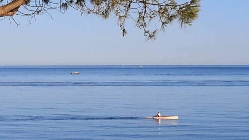 T2 terrasse,vue mer,piscine chauffée,plancha.