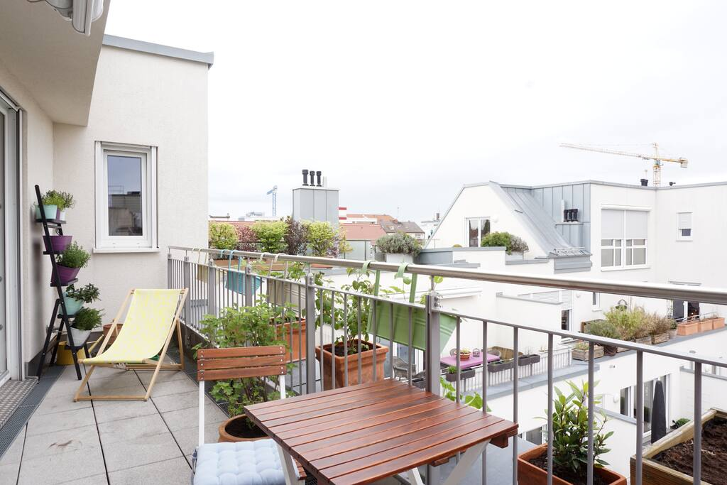 The balcony is very nice & has nice furniture.
