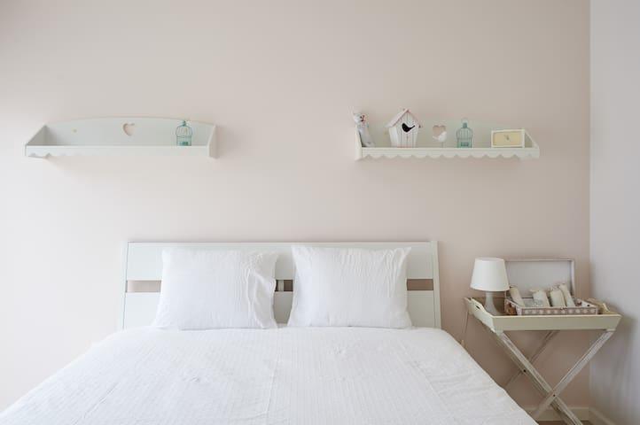 "First Floor:  Double Bedroom ""Pink Room"" with Balcony"