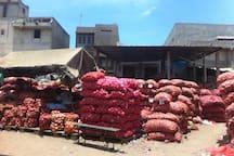 Dakar - Guediawaye, marché aux oignons