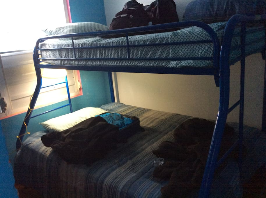 Room with Queen / single bunk bed