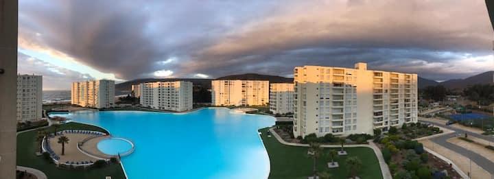 Apartamento Papudo Laguna junto al Mar Wifi+Cable
