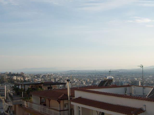 Loft sunny apartment,splendid 360° view of Athens! - Galatsi
