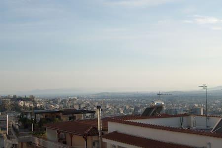 Loft sunny apartment,splendid 360° view of Athens! - Galatsi - Apartamento