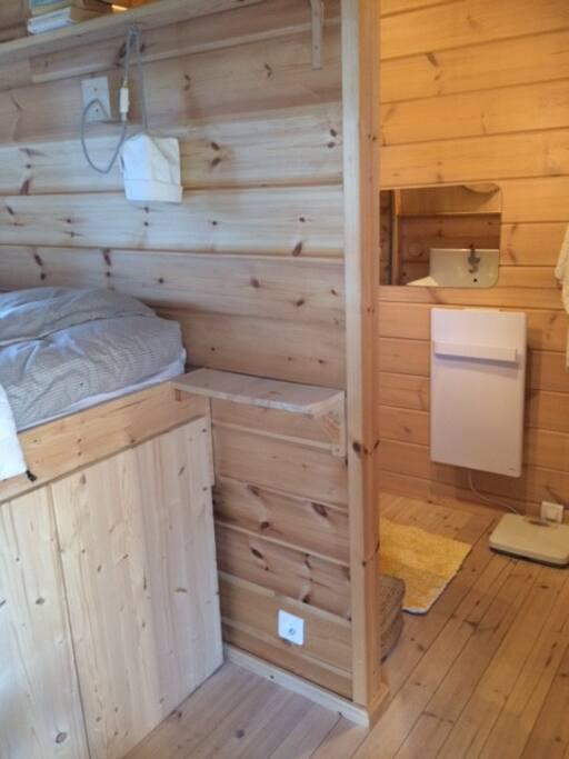 Chambre avec salle d'eau accolée