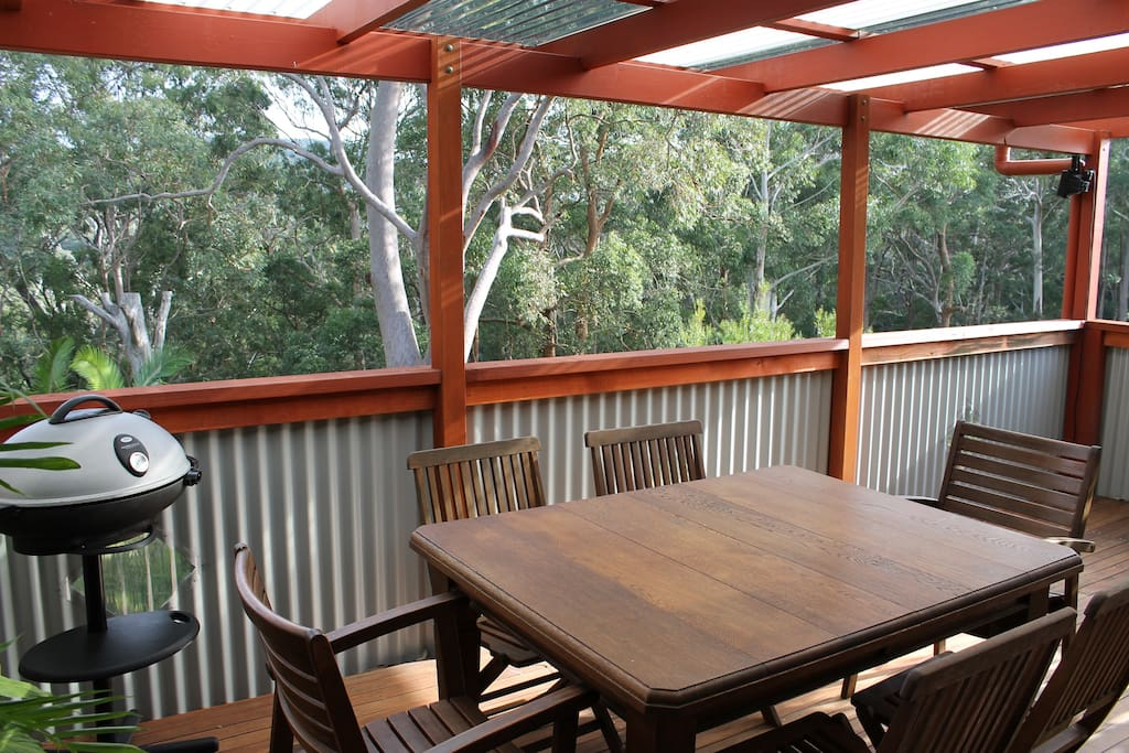 top deck - outdoor covered living space - the place to hang