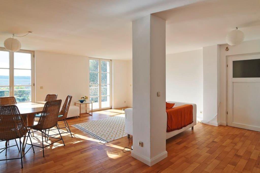 Esstisch & grosses Wohnzimmer
