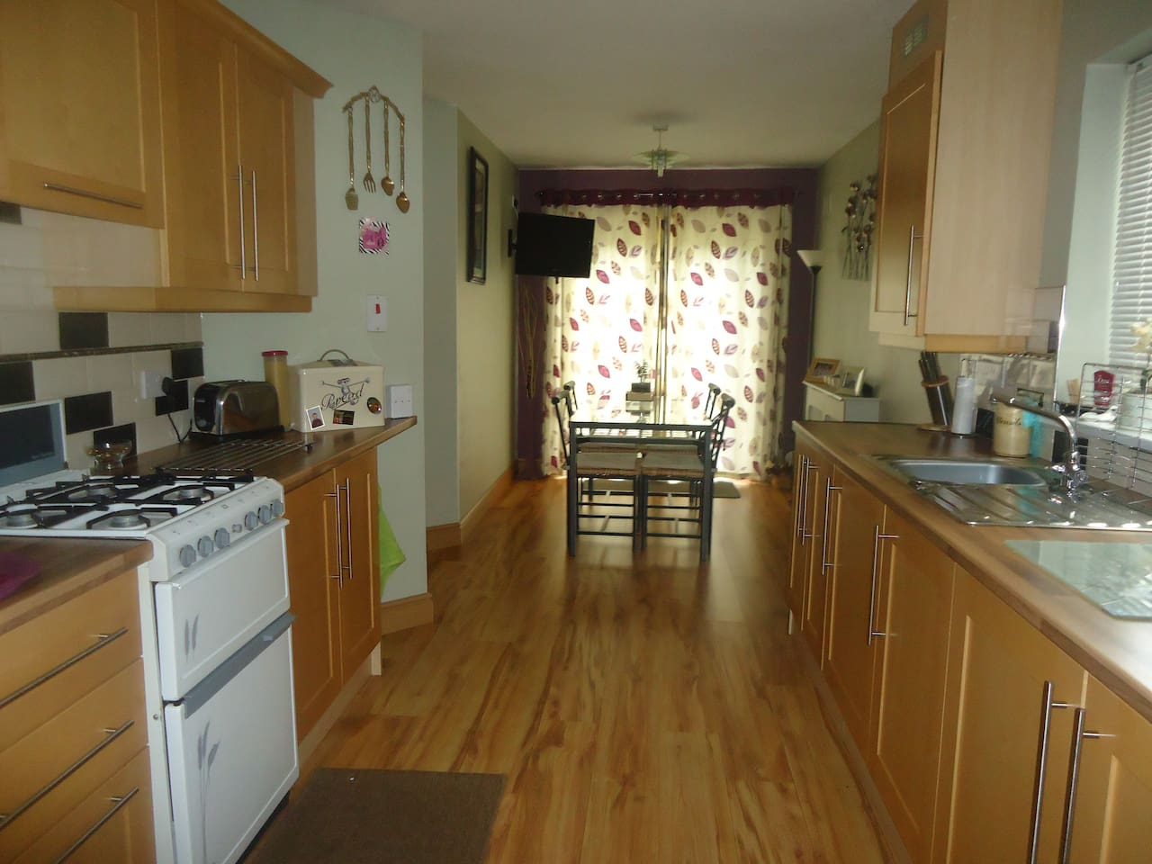 Bright and airy with all conveniences and leads onto garden