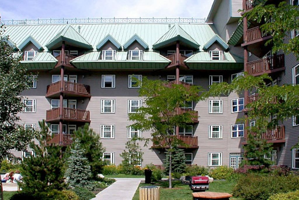 Exterior showing balconies.