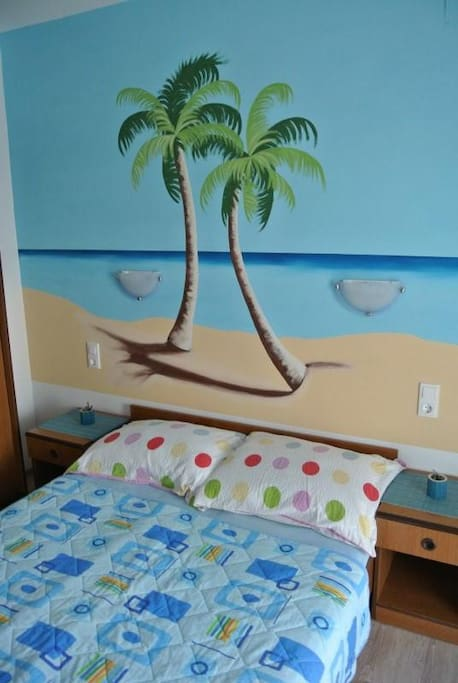 Bedroom no.4 with comfortable bed and the marine atmosphere