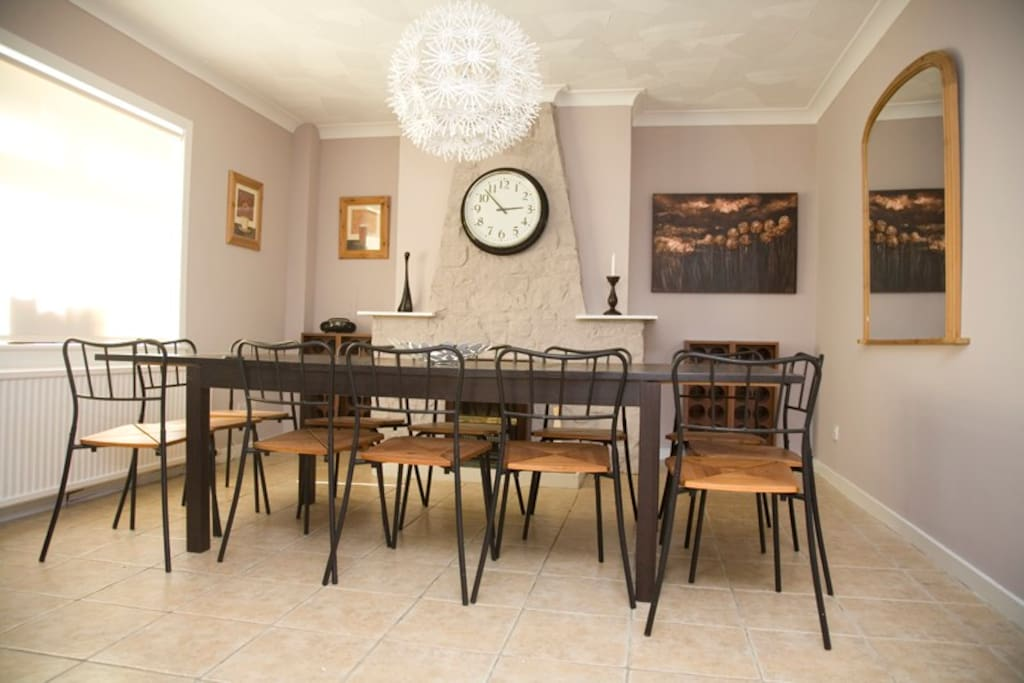 Kitchen/dining room, with seating for 14