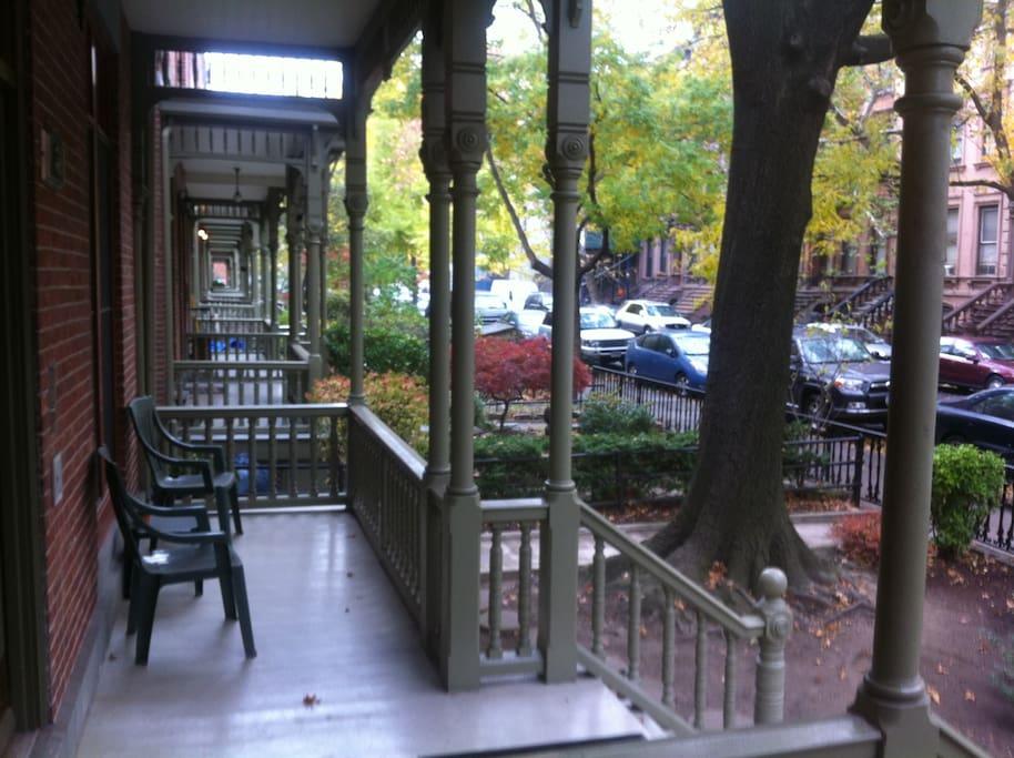 Outside porch
