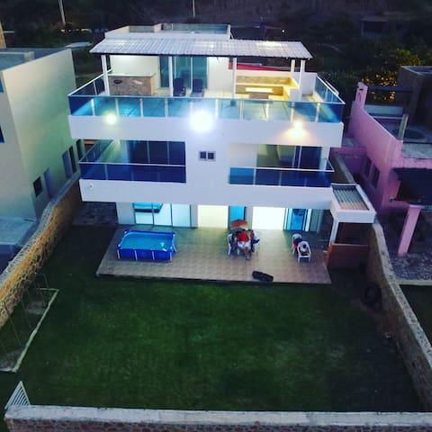 CASA FRENTE AL MAR ENTRE CARTAGENA Y BARRANQUILLA - Santa Verónica - Tatil evi