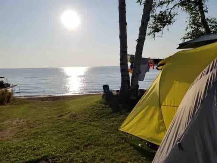 Terrain de camping au bord du Lac St-Jean