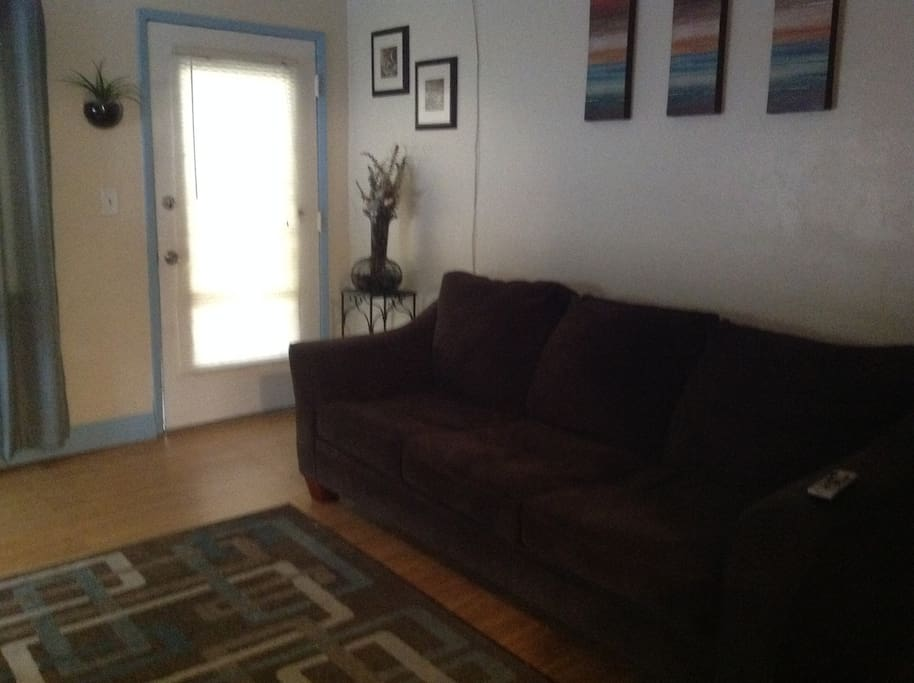Living room/couch pulls out to sofa bed