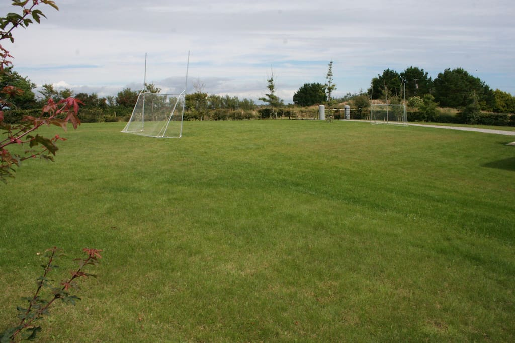 Front garden with goal posts
