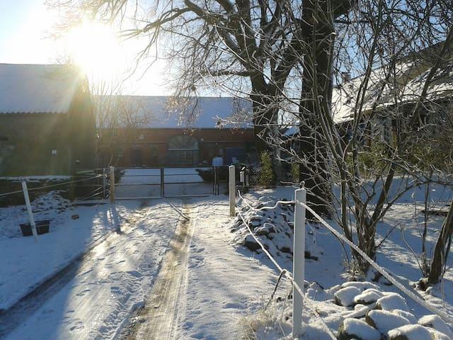 Einfahrt, im Winter