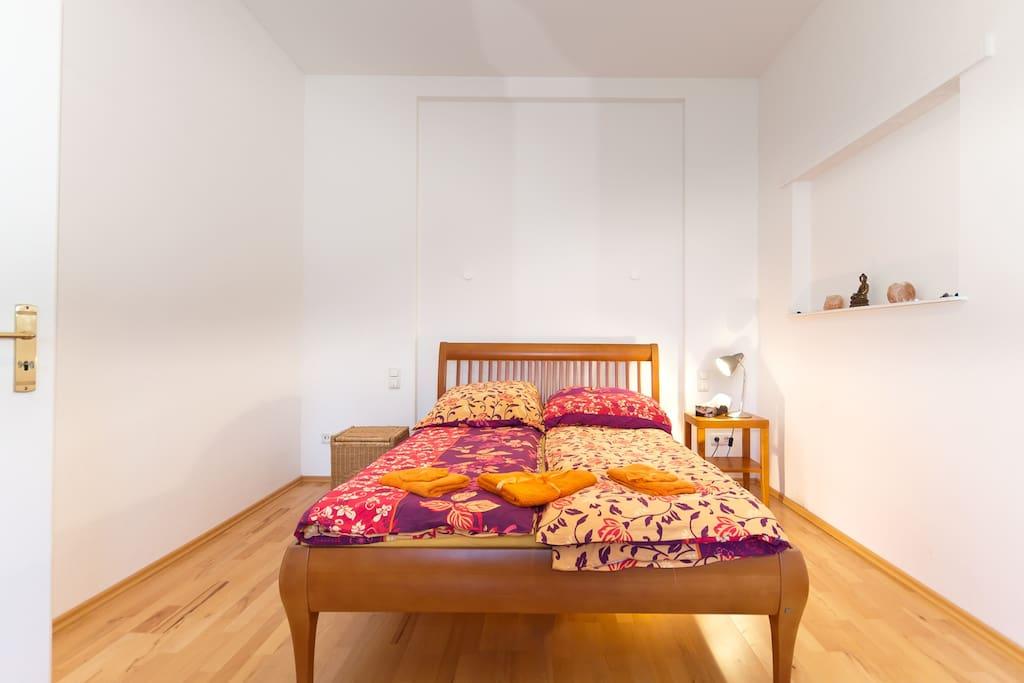 Bedroom Bed is 140cm wide