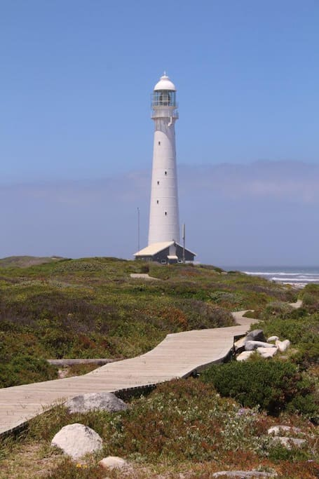 Lighthouse erected 1920 - take your drinks to watch the sunset