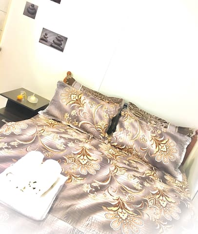 Our brand new double bed
