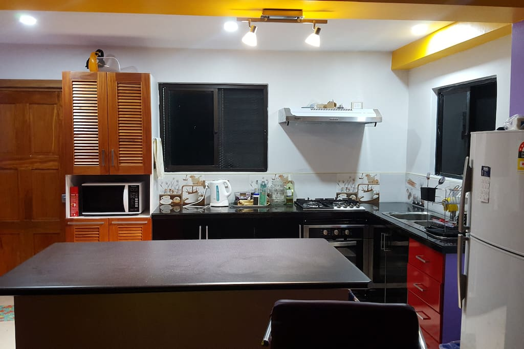 Kitchen with lighting effect