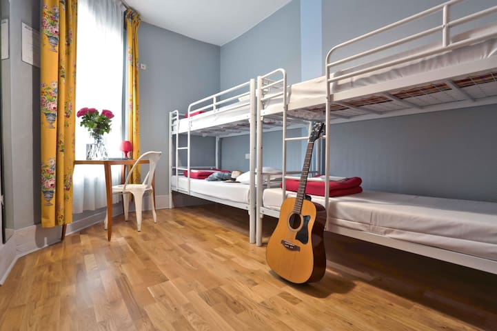 Bed in a 4 Bed Mixed Dormitory within hostel