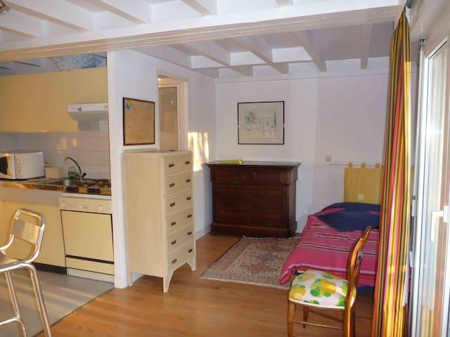 Studio en rez de jardin 300m plage - Saint-Philibert - Apartamento