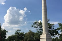 Close to the monuments