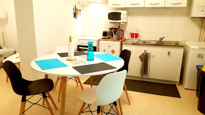 Apartment with one bedroom in Lourdes, with enclosed garden and WiFi - 12 km from the slopes