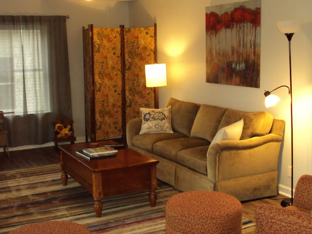 Comfy sofa in large living room