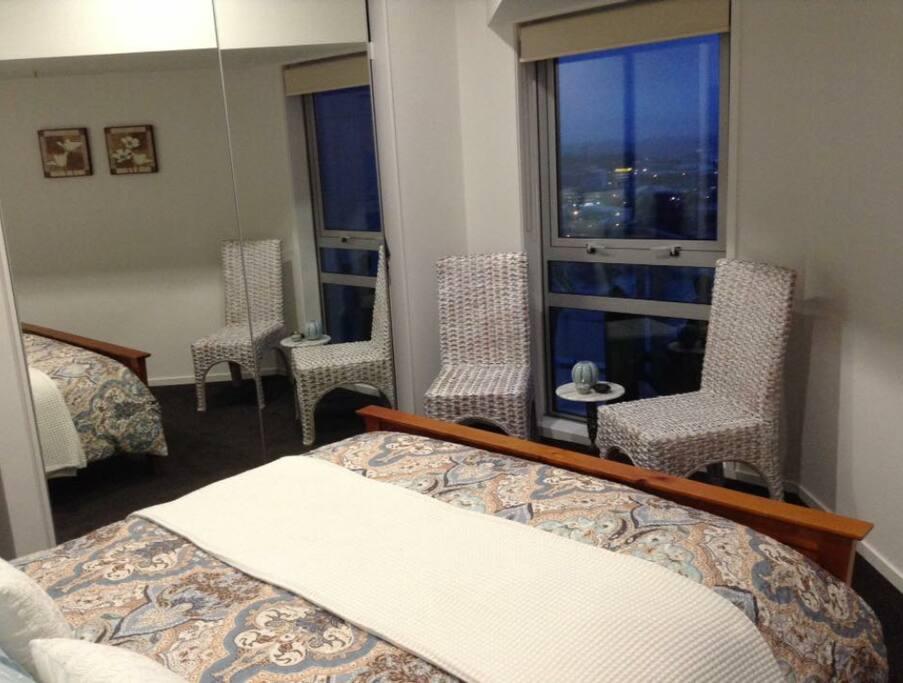 Comfortable bedroom with Queen bead