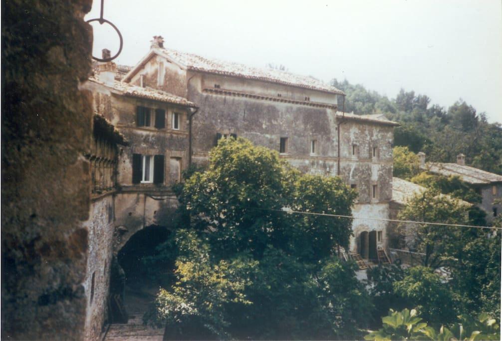 Il monastero - seen from across the village