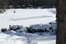 Rink view from the house
