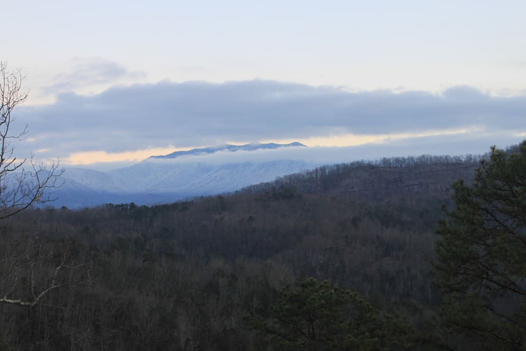 Snow covered mountains!