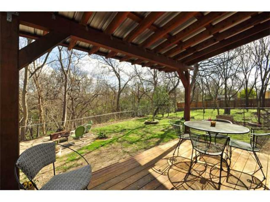 Enjoy your privacy in the backyard which backs up to the beautiful Austin Greenbelt!