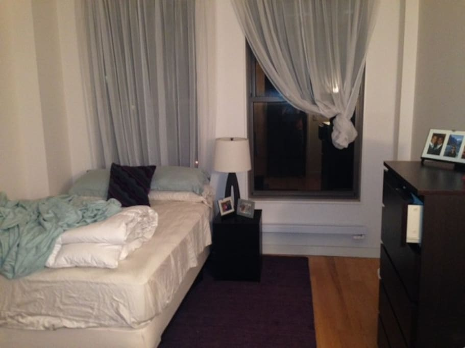 Spacious Room with Queen Bed, Dresser, Bed Side Table, Heat, AC, 10ft Ceilings and Large Windows