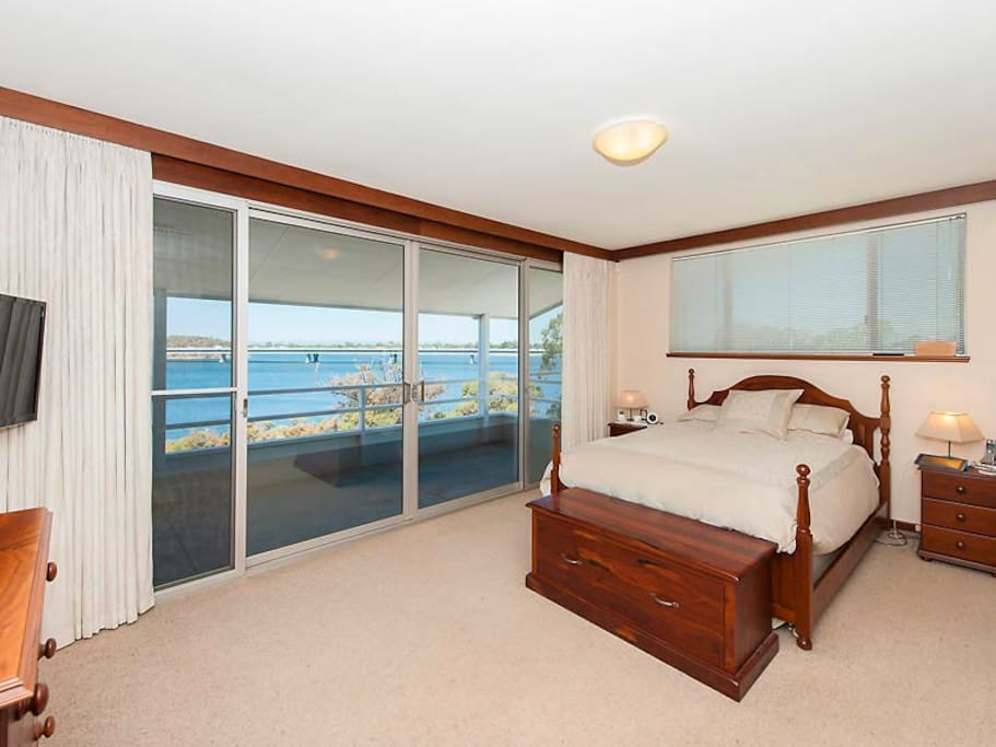 Master Bedroom with it's great views.