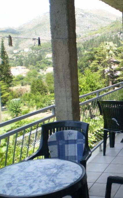 Terrace garden view