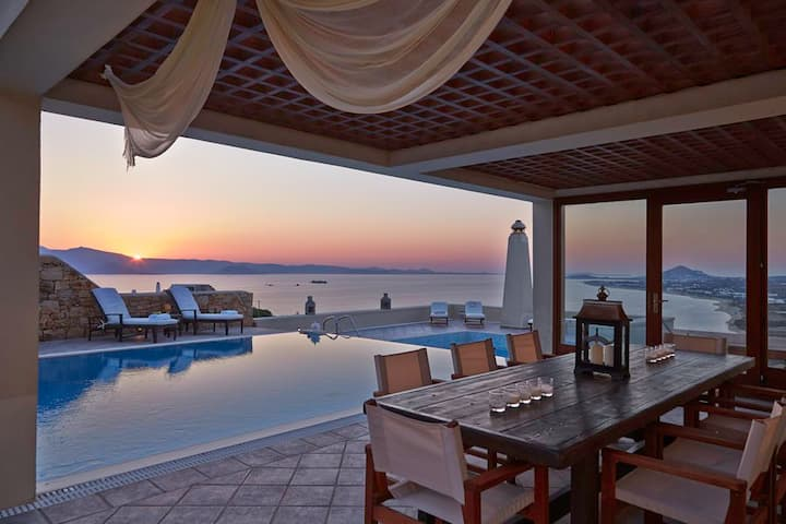 'Tower' the luxury of touching the Aegean sunset