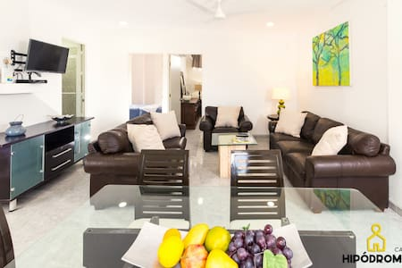 APT. WITH SWIMMING POOL JUST 12 MIN FROM THE BEACH