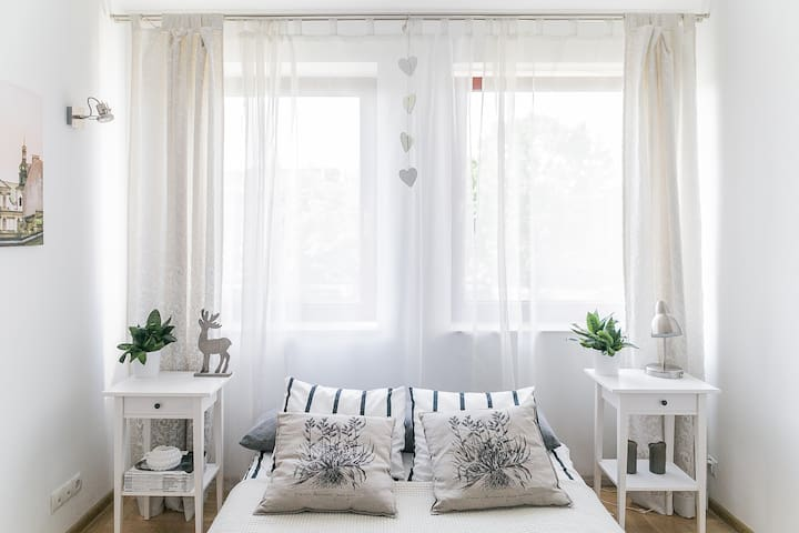 Sunny and bright bedroom