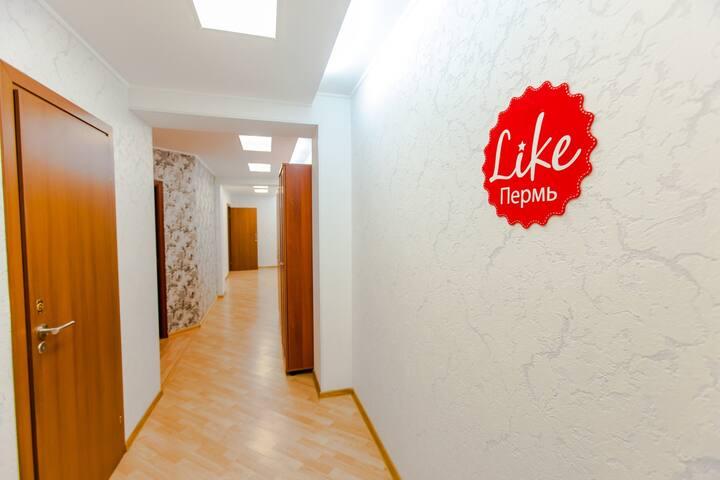 6-местная комната в Like Хостеле