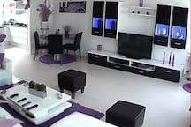part of the livingroom in the house