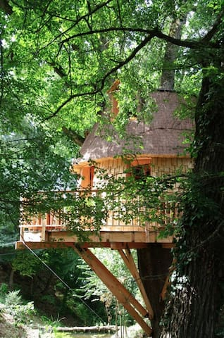 La Cabane des Lutins - Saint-Christaud - Treehouse