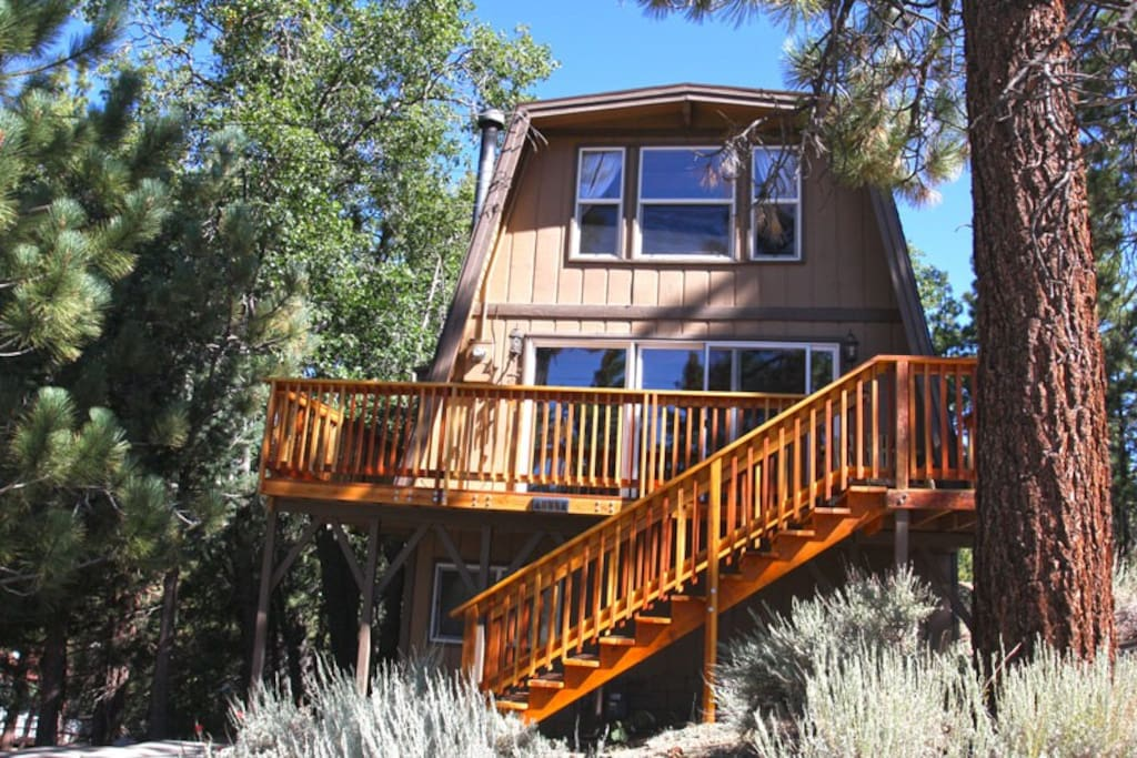 Modern scandia 4 bedrooms 3baths with hot tub cabins Big bear lakefront cabins for rent