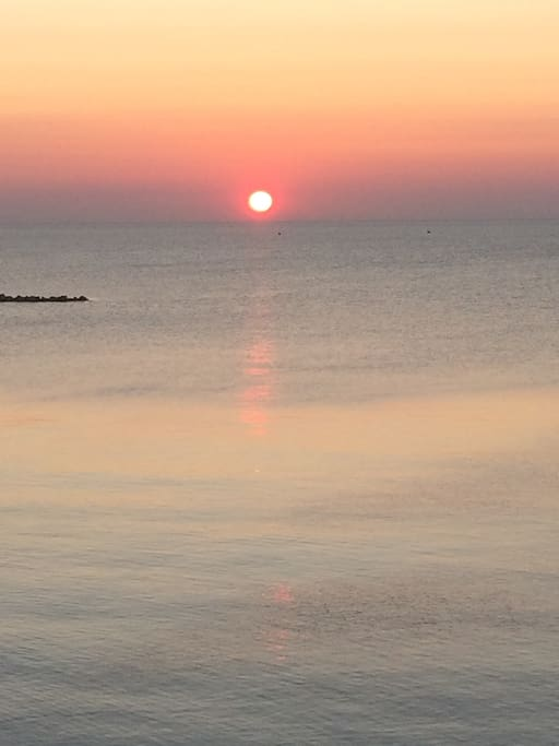 Sunrise over Lake Michigan, one block from home.