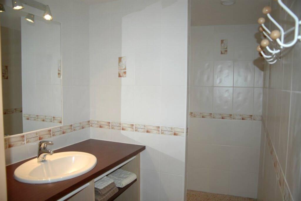 La salle d'eau de la chambre Bocage