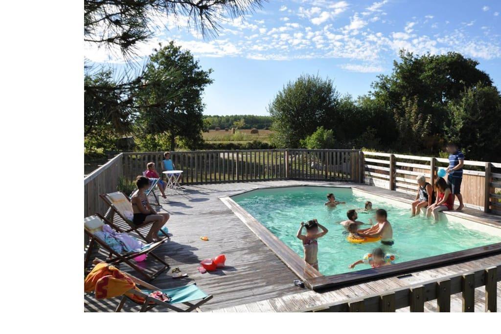 le plaisir de la piscine naturelle