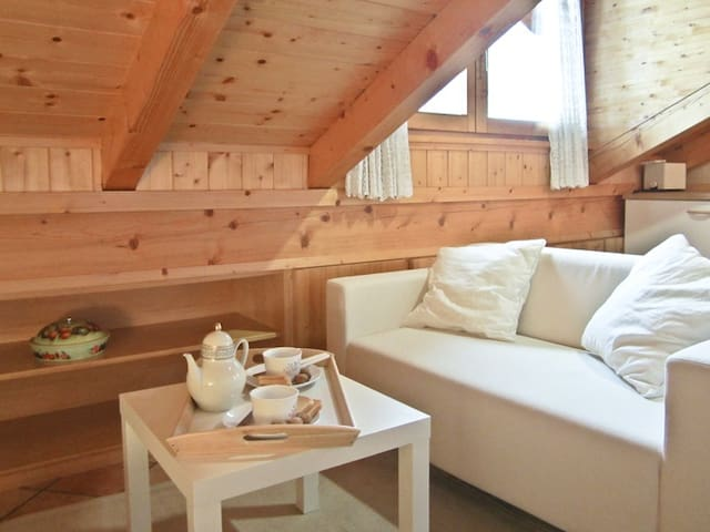 Cozy attic with Dolomites view