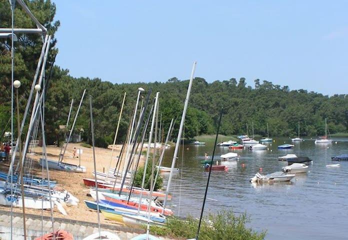 Chambre au bord du lac!   - Lacanau - Huis